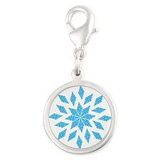 Blue Diamond Cutie Mark Rarity Mandala Silver Roun