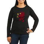 Red Gryphon Women's Long Sleeve Dark T-Shirt