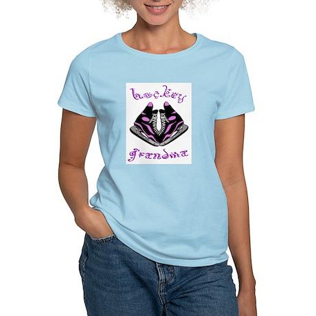 Hockey Grandma (skates) Women's Pink T-Shirt