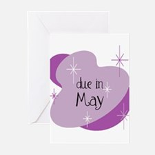 Due In May Retro Greeting Cards (Pk of 10)