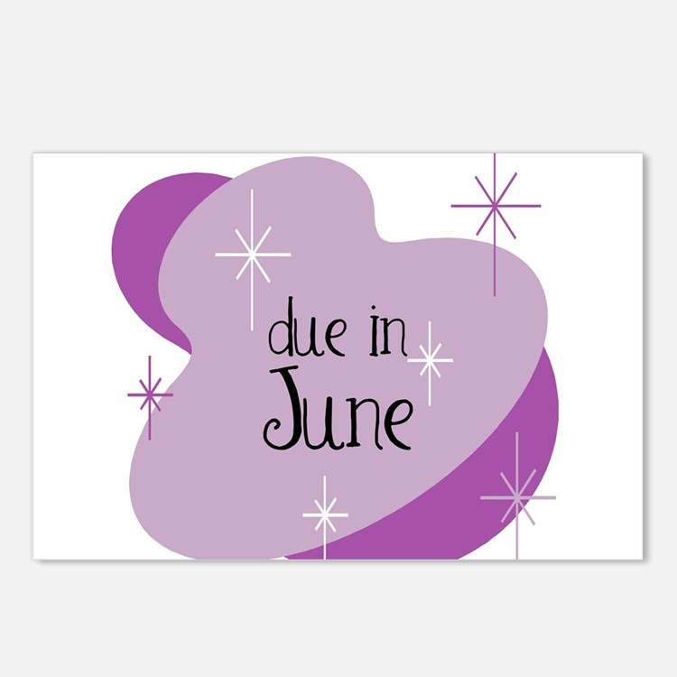 Due In June Retro Postcards (Package of 8)