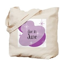 Due In June Retro Tote Bag