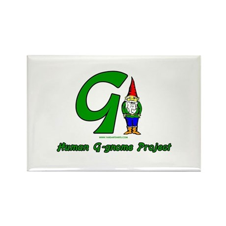 Human G Gnome Project Rectangle Magnet