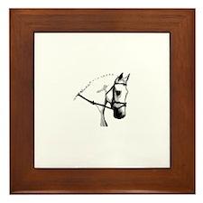 Grey Dressage Horse Framed Tile