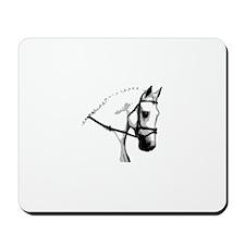 Grey Dressage Horse Mousepad