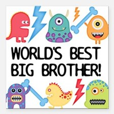 Monsters World's Best Big Brother Square Car Magne