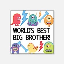 Monsters World's Best Big Brother Sticker