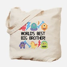 Monsters World's Best Big Brother Tote Bag