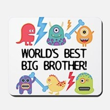 Monsters World's Best Big Brother Mousepad
