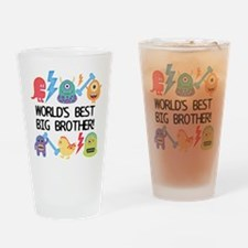 Monsters World's Best Big Brother Drinking Glass