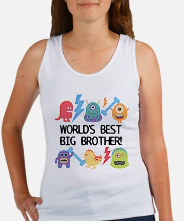Monsters World's Best Big Brother Tank Top