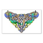 Celtic Artwork Rectangle Sticker