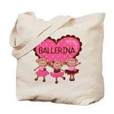 Ballerina Monkeys Tote Bag