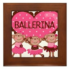 Ballerina Monkeys Framed Tile