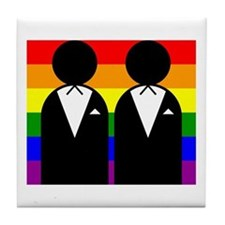 Two Grooms Tile Coaster