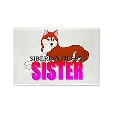 Siberian Husky Sister Rectangle Magnet