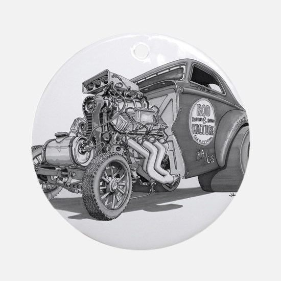 Old School Gasser Ornament (Round)