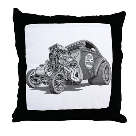 Old School Gasser Throw Pillow