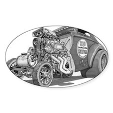Old School Gasser Oval Decal