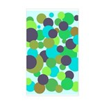 Retro Dots II Rectangle Sticker
