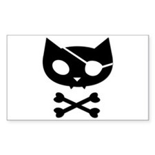Pirate Kitty Sticker (Rectangular)