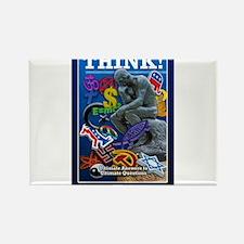 projecThink dark blue Rectangle Magnet