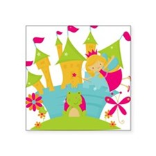 Blond Frog Princess Sticker