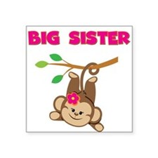 Swinging Monkey Big Sister Sticker