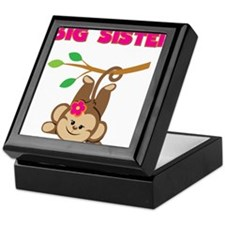 Swinging Monkey Big Sister Keepsake Box
