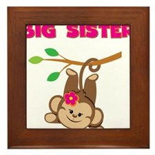 Swinging Monkey Big Sister Framed Tile