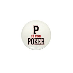 P is for Poker Mini Button (100 pack)
