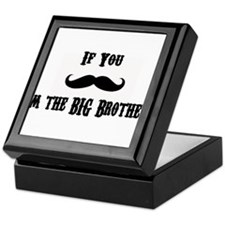 If You Mustache I'm the Big Brother Keepsake Box