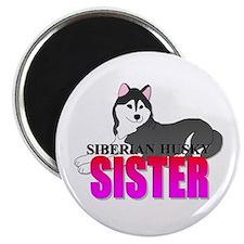 """Siberian Husky Sister 2.25"""" Magnet (100 pack)"""