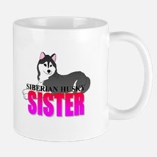 Black Siberian Husky Sister Mug