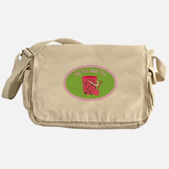 My First Beach Trip Messenger Bag