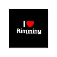 """Rimming Square Sticker 3"""" x 3"""""""