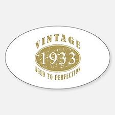 1933 Birthday Vintage Sticker (Oval)