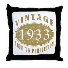 1933 Birthday Vintage Throw Pillow