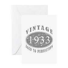 1933 Birthday Vintage Greeting Card