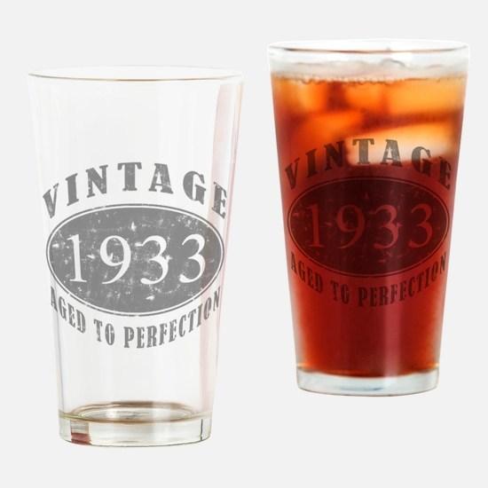 1933 Birthday Vintage Drinking Glass