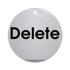 Delete Button Computer Key Ornament (Round)