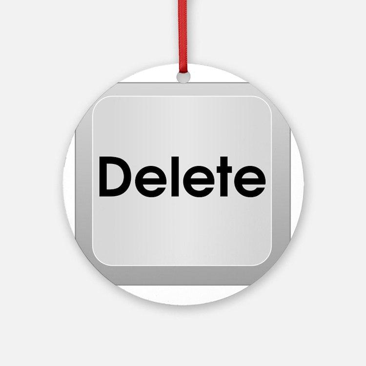 Delete Button Computer Key Ornament (Round)