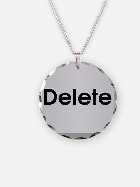 Delete Button Computer Key Necklace
