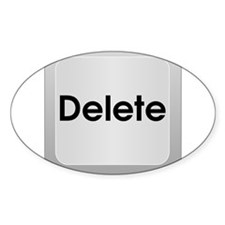 Delete Button Computer Key Decal