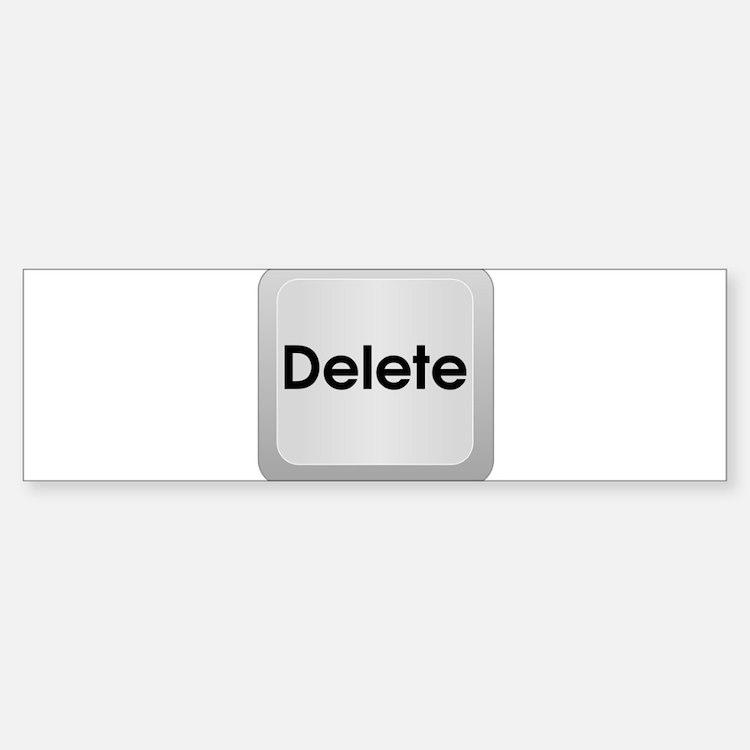 Delete Button Computer Key Bumper Bumper Bumper Sticker