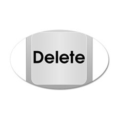 Delete Button Computer Key Wall Decal