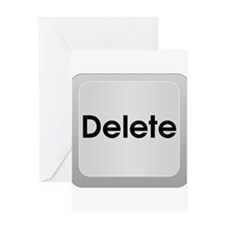 Delete Button Computer Key Greeting Card