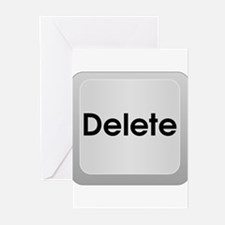 Delete Button Computer Key Greeting Cards (Pk of 1