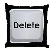 Delete Button Computer Key Throw Pillow