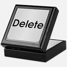 Delete Button Computer Key Keepsake Box